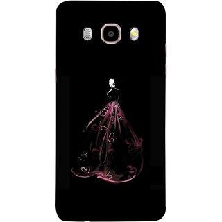 FUSON Designer Back Case Cover for Samsung Galaxy J5 (6) 2016 :: Samsung Galaxy J5 2016 J510F :: Samsung Galaxy J5 2016 J510Fn J510G J510Y J510M :: Samsung Galaxy J5 Duos 2016 (Cloth Design Dark Pink Baby Maroon Paper Sheet )