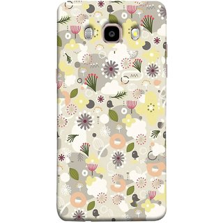FUSON Designer Back Case Cover for Samsung Galaxy J5 (6) 2016 :: Samsung Galaxy J5 2016 J510F :: Samsung Galaxy J5 2016 J510Fn J510G J510Y J510M :: Samsung Galaxy J5 Duos 2016 (Elegant Gentle Trendy Pattern In Small Scale Flower)