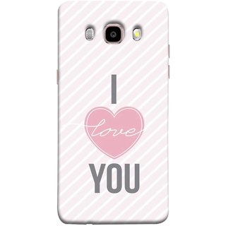 FUSON Designer Back Case Cover for Samsung Galaxy J7 (6) 2016 :: Samsung Galaxy J7 2016 Duos :: Samsung Galaxy J7 2016 J710F J710Fn J710M J710H  (Just Pinky Say Always I Love You Red Hearts Couples)