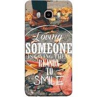 FUSON Designer Back Case Cover for Samsung Galaxy J7 (6) 2016 :: Samsung Galaxy J7 2016 Duos :: Samsung Galaxy J7 2016 J710F J710Fn J710M J710H  (Lovely Bottom Of My Heart Smile Happy Key )