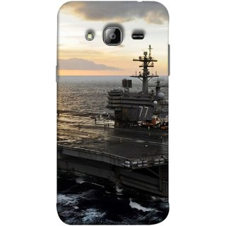 FUSON Designer Back Case Cover for  Galaxy J7 J700F (2015) ::  Galaxy J7 Duos (Old Model) ::  Galaxy J7 J700M J700H  (Indian Submarine Shoots Ship With ssile Training )