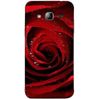 FUSON Designer Back Case Cover for Samsung Galaxy J7 J700F (2015) :: Samsung Galaxy J7 Duos (Old Model) :: Samsung Galaxy J7 J700M J700H  (Closeup Of Red Rose With Sprinkled With Water Droplets)