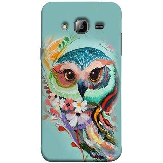 FUSON Designer Back Case Cover for Samsung Galaxy J7 J700F (2015) :: Samsung Galaxy J7 Duos (Old Model) :: Samsung Galaxy J7 J700M J700H  (Birds Sitting Alone Waiting For Partner Leaves Leaf Sketch)
