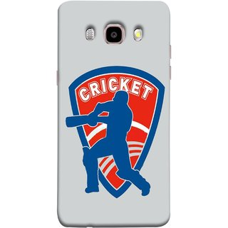 FUSON Designer Back Case Cover for Samsung Galaxy J7 (6) 2016 :: Samsung Galaxy J7 2016 Duos :: Samsung Galaxy J7 2016 J710F J710Fn J710M J710H  (County Cricket India Aus England Bat Ball Batsman)