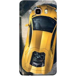FUSON Designer Back Case Cover for Samsung Galaxy J7 (6) 2016 :: Samsung Galaxy J7 2016 Duos :: Samsung Galaxy J7 2016 J710F J710Fn J710M J710H  (Yellow 918 Spyder Top View Expensive Cars)