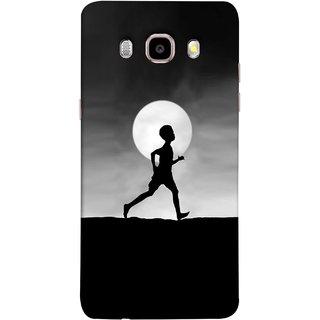 FUSON Designer Back Case Cover for Samsung Galaxy J7 (6) 2016 :: Samsung Galaxy J7 2016 Duos :: Samsung Galaxy J7 2016 J710F J710Fn J710M J710H  (Halloween Vector Illustration Background Full Moon )