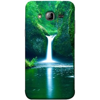 FUSON Designer Back Case Cover for Samsung Galaxy J7 J700F (2015) :: Samsung Galaxy J7 Duos (Old Model) :: Samsung Galaxy J7 J700M J700H  (Mountains & Waterfalls Images Green Lake Desktop)
