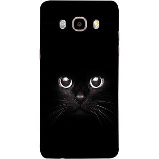 FUSON Designer Back Case Cover for Samsung Galaxy J7 (6) 2016 :: Samsung Galaxy J7 2016 Duos :: Samsung Galaxy J7 2016 J710F J710Fn J710M J710H  (Black Kitty Kitten Closeup Of A Long Haired Black Cats )