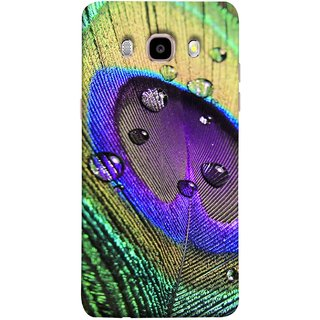 FUSON Designer Back Case Cover for Samsung Galaxy J7 (6) 2016 :: Samsung Galaxy J7 2016 Duos :: Samsung Galaxy J7 2016 J710F J710Fn J710M J710H  (Close Up View Of Eyespot On Male Peacock Feather)