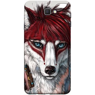 FUSON Designer Back Case Cover for Samsung Galaxy J7 Prime (2016) (Blue Eyes Girl Hairs Hairstyles Wolf Large Ears)