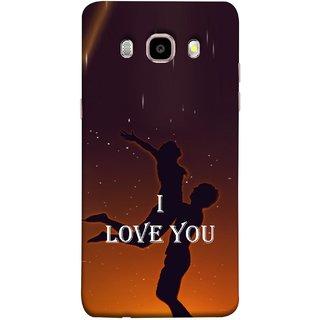 FUSON Designer Back Case Cover for Samsung Galaxy J7 (6) 2016 :: Samsung Galaxy J7 2016 Duos :: Samsung Galaxy J7 2016 J710F J710Fn J710M J710H  (I Love You Wallpapers Flowers Lovers Boyfriends )