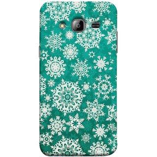 FUSON Designer Back Case Cover for Samsung Galaxy J7 J700F (2015) :: Samsung Galaxy J7 Duos (Old Model) :: Samsung Galaxy J7 J700M J700H  (Different Size Winter Snow Enjoying Ornaments Green)