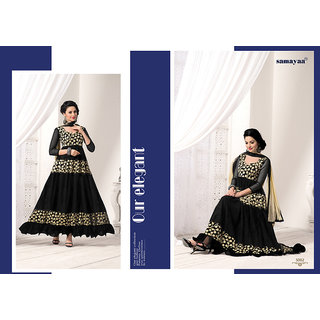 Fashion Black and Cream Anarkali