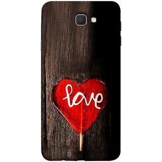 FUSON Designer Back Case Cover for Samsung Galaxy J7 Prime (2016) (Big Tree Dark Red Candy Heart Shape)