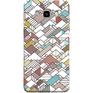 FUSON Designer Back Case Cover for Samsung Galaxy J7 (6) 2016 :: Samsung Galaxy J7 2016 Duos :: Samsung Galaxy J7 2016 J710F J710Fn J710M J710H  (Watercolor Horizontal Vertical Vector Lines Colourful)