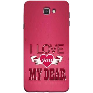 FUSON Designer Back Case Cover for Samsung Galaxy J7 Prime (2016) (Pyar Hai Tumse Heart Pink Red True )