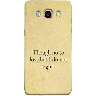 FUSON Designer Back Case Cover for Samsung Galaxy J7 (6) 2016 :: Samsung Galaxy J7 2016 Duos :: Samsung Galaxy J7 2016 J710F J710Fn J710M J710H  (Pyar Nahi To Bhi Koi Pachtava Nahi Prem Nasale )