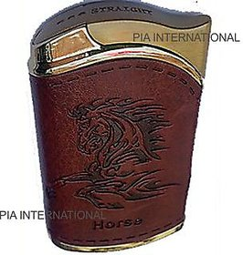 Leather Horse  OTHER design Windproof CIGARETTE LIGHTER -PIA