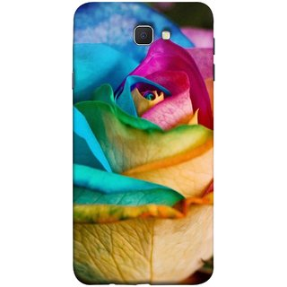 FUSON Designer Back Case Cover for Samsung Galaxy J7 Prime (2016) (Rose Colours Red Pink Yellow Blue Lovely Roses)