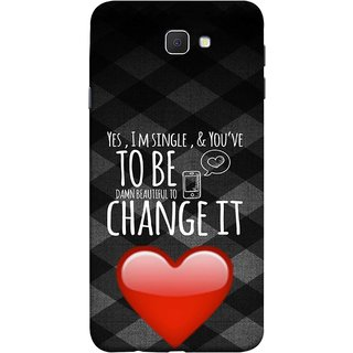 FUSON Designer Back Case Cover for Samsung Galaxy J7 Prime (2016) (Damn Beautiful To Change It Hearts Love Pure )