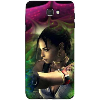 FUSON Designer Back Case Cover for Samsung Galaxy J7 Prime (2016) (Anime Ninja Girl Wallpaper Cartoon Tatoo Design )
