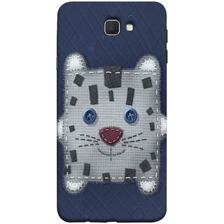 FUSON Designer Back Case Cover for Samsung Galaxy J7 Prime (2016) (Cloth Embroidered Shirt Jacket Patch Mouse Iron Sew)