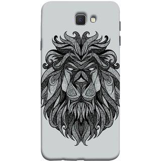 FUSON Designer Back Case Cover for Samsung Galaxy J7 Prime (2016) (Jungle Ka King Pencil Pen Sketch Best Wallpaper)