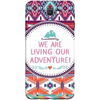 FUSON Designer Back Case Cover for Samsung Galaxy J7 Prime (2016) (Colourful Wallpaper Best Quotes Bright Wall Design)