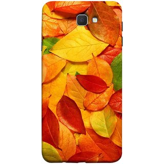 FUSON Designer Back Case Cover for Samsung Galaxy J7 Prime (2016) (Multicolour Dry Leaves Painting Bright Sunny Day )