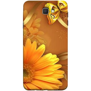 FUSON Designer Back Case Cover for Samsung Galaxy J7 Prime (2016) (Butterfly Bright Beautiful Colorful Yellow Splendo Trees )