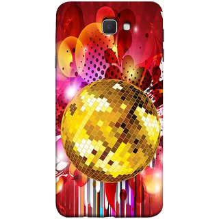 FUSON Designer Back Case Cover for Samsung Galaxy J7 Prime (2016) (Music Disco Party Poster Red Shiny Abstract Party Design)