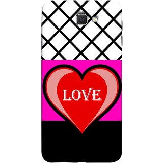 FUSON Designer Back Case Cover for Samsung Galaxy J7 Prime (2016) (Pink Red Wallpapers Flowers Lovers Boyfriends Black)