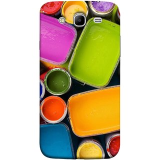 FUSON Designer Back Case Cover for Samsung Galaxy Mega 5.8 I9150 :: Samsung Galaxy Mega Duos 5.8 I9152 (Cans And Paint On Colour Background Bright Full Joy )