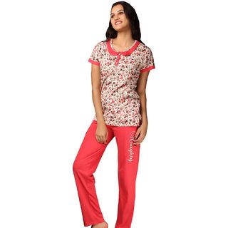 De'Moda Women's Floral Night Suit