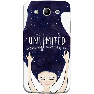 FUSON Designer Back Case Cover for Samsung Galaxy Mega 5.8 I9150  Samsung Galaxy Mega Duos 5.8 I9152 (Girls With Long Hairs See Universe Milky Way Stars )