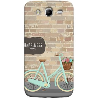FUSON Designer Back Case Cover for Samsung Galaxy Mega 5.8 I9150  Samsung Galaxy Mega Duos 5.8 I9152 (Bicycle Ride With Flowers And Way To Happy )