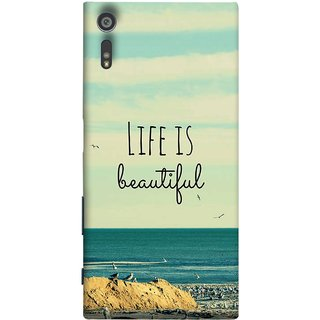 FUSON Designer Back Case Cover for Sony Xperia XR (Adorable Wallpapers Best Quotes Enjoy Together Happy)