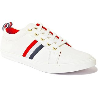 Cyro Men's White Synthetic Smart Casual Shoes