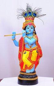 Fiber Glass lord Krishna Idol With original Ornaments
