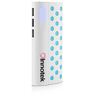 Innotek IK-01 10000mAH Power Bank- White with Six Months Warranty (Made in India)