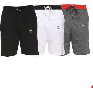 Vimal-Jonney Multicolor Cotton Shorts For Men(Pack Of 3)