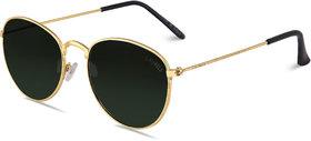 Laurels Green Night Vision Oval Unisex Sunglasses