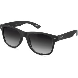 Laurels Black Night Vision Wayfarer Unisex Sunglasses