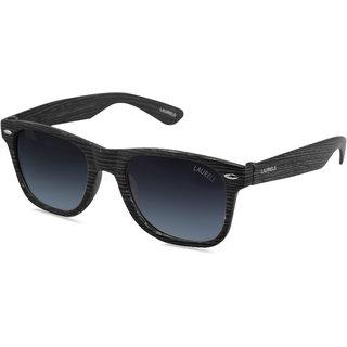 Laurels Woods UV Protected Wood Finish Wayfarer  Sunglasses - Blue Lens - Ls-Wd-030202
