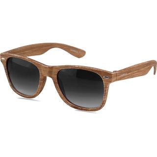 65f9a967d86 Laurels Woods UV Protected Wood Finish Wayfarer Sunglasses - Black Lens -  Ls-Wd-