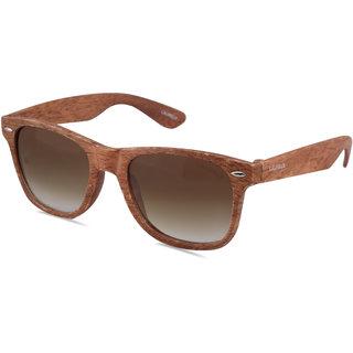 Laurels Woods UV Protected Wood Finish Wayfarer  Sunglasses - Brown Lens - Ls-Wd-090606