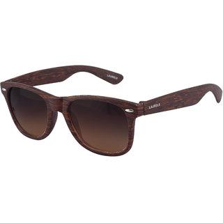 Laurels Woods UV Protected Wood Finish Wayfarer  Sunglasses - Brown Lens - Ls-Wd-090909