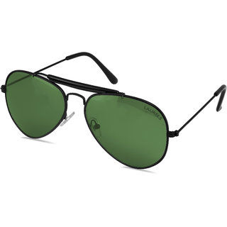 Laurels Avenger UV Protected Aviator  Sunglasses  - Green Lens - LS-Avg-040202