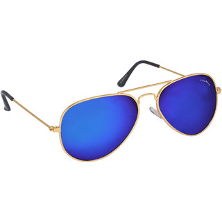 Laurels Helix Men Blue Color Aviator Sunglass (LS-HLX-030606)