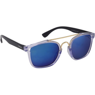 Laurels Maestro Men Blue Color Wayfarer Sunglass (LS-MAS-031406)